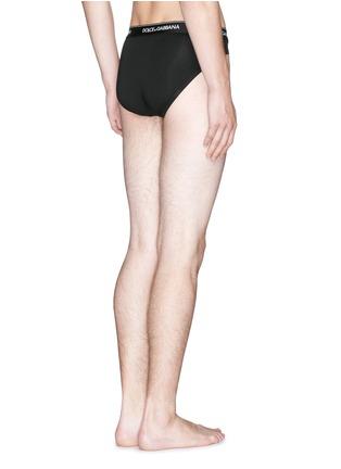 背面 - 点击放大 - DOLCE & GABBANA - 弹性混棉低腰三角内裤套装