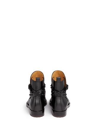 背面 - 点击放大 - VALENTINO - Rockstud铆钉搭带牛皮切尔西靴