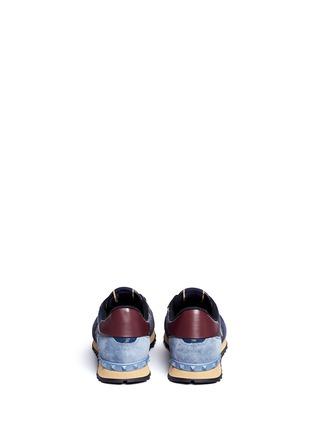 背面 - 点击放大 - Valentino - 麂皮蝴蝶迷彩拼贴运动鞋