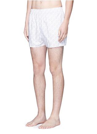 模特儿示范图 - 点击放大 - SUNSPEL - 细钉印花纯棉四角内裤