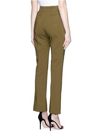 背面 - 点击放大 - Givenchy Beauty - 荷叶边装饰直脚长裤