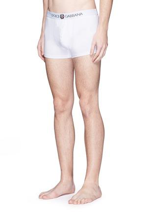 模特儿示范图 - 点击放大 - DOLCE & GABBANA - SPORT CREST刺绣徽章棉质平脚内裤