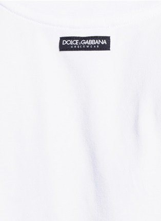 细节 - 点击放大 - DOLCE & GABBANA - 弹性棉质背心两件套