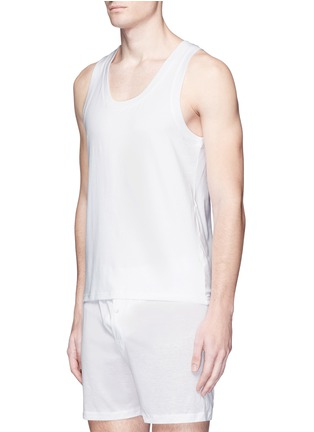 模特儿示范图 - 点击放大 - DOLCE & GABBANA - 弹性棉质背心两件套