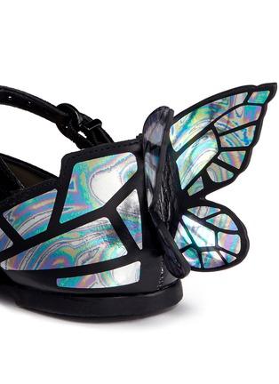 细节 - 点击放大 - Sophia Webster - CHIARA MINI儿童款幻彩蝴蝶装饰绒面皮平底鞋
