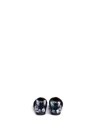 背面 - 点击放大 - SOPHIA WEBSTER - CHIARA MINI儿童款幻彩蝴蝶装饰绒面皮平底鞋