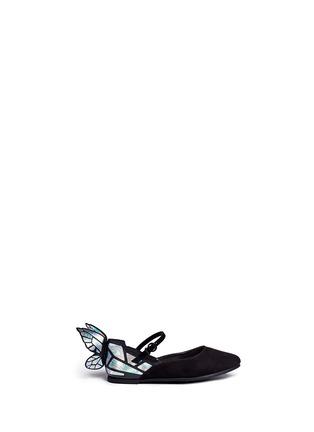 首图 - 点击放大 - SOPHIA WEBSTER - CHIARA MINI儿童款幻彩蝴蝶装饰绒面皮平底鞋