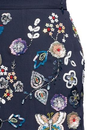 细节 - 点击放大 - NEEDLE & THREAD - 花卉蝴蝶缀饰半身裙