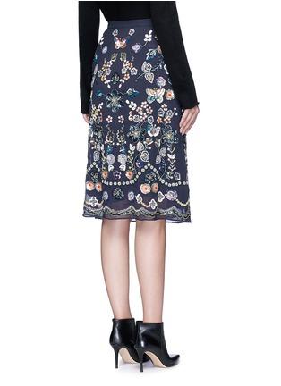 背面 - 点击放大 - NEEDLE & THREAD - 花卉蝴蝶缀饰半身裙