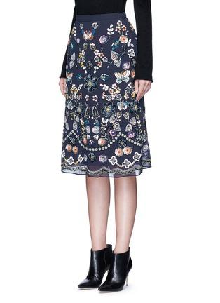 正面 - 点击放大 - NEEDLE & THREAD - 花卉蝴蝶缀饰半身裙