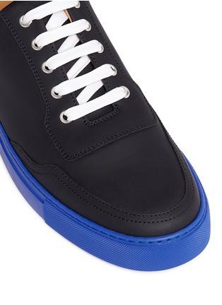 细节 - 点击放大 - HARRYS OF LONDON - MR JONES 2塑感皮革拼色球鞋