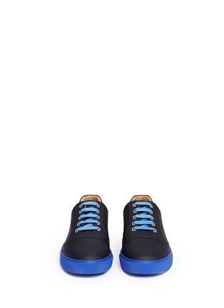 正面 -点击放大 - HARRYS OF LONDON - MR JONES 2塑感皮革拼色球鞋