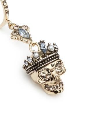 细节 - 点击放大 - Alexander McQueen - 国王骷髅头垂坠耳环