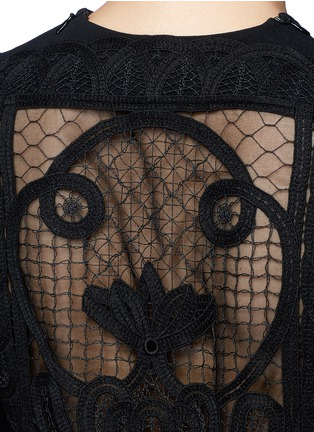 细节 - 点击放大 - VICTORIA BECKHAM - 蕾丝拼接单色绉绸连衣裙