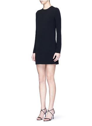 正面 - 点击放大 - VICTORIA BECKHAM - 蕾丝拼接单色绉绸连衣裙