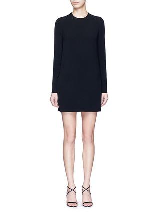 首图 - 点击放大 - VICTORIA BECKHAM - 蕾丝拼接单色绉绸连衣裙