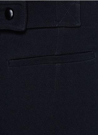 细节 - 点击放大 - VICTORIA BECKHAM - 单色绉绸阔腿裤