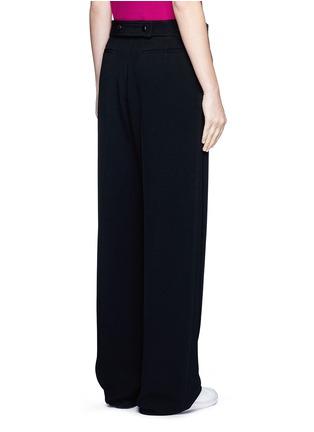 背面 - 点击放大 - VICTORIA BECKHAM - 单色绉绸阔腿裤