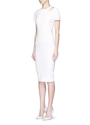 正面 - 点击放大 - VICTORIA BECKHAM - 镂空装饰混棉连衣裙