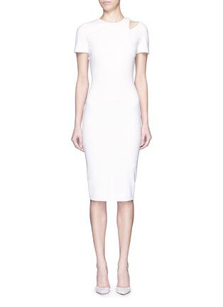 首图 - 点击放大 - VICTORIA BECKHAM - 镂空装饰混棉连衣裙