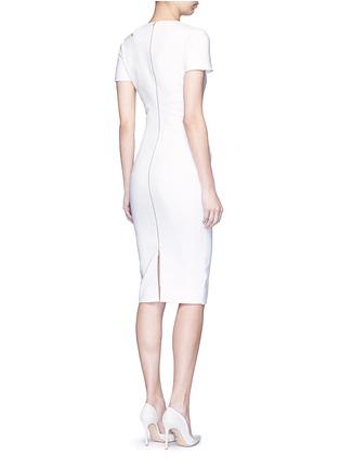 模特示范图 - 点击放大 - VICTORIA BECKHAM - 镂空装饰混棉连衣裙