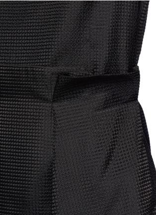 细节 - 点击放大 - VICTORIA, VICTORIA BECKHAM - 波浪条纹刺绣薄纱连衣裙