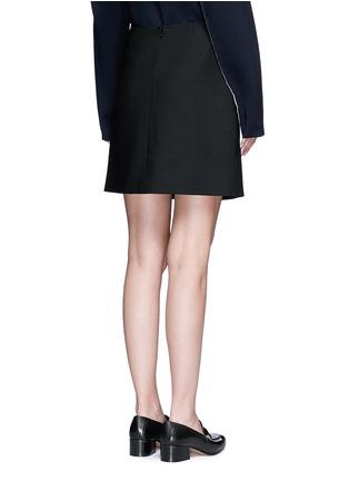 背面 - 点击放大 - VICTORIA, VICTORIA BECKHAM - 结饰混羊毛半身裙