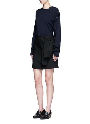 模特示范图 - 点击放大 - VICTORIA, VICTORIA BECKHAM - 结饰混羊毛半身裙