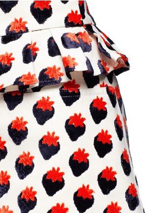 细节 - 点击放大 - VICTORIA, VICTORIA BECKHAM - 草莓图案褶饰半身裙