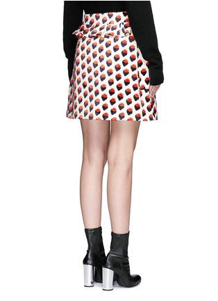 背面 - 点击放大 - VICTORIA, VICTORIA BECKHAM - 草莓图案褶饰半身裙