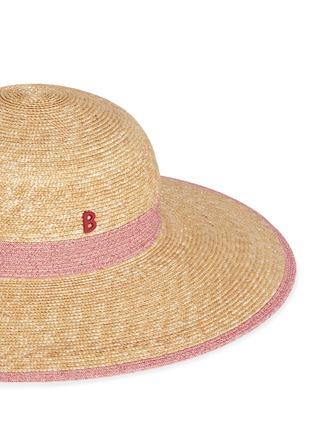 细节 - 点击放大 - MY BOB - CAPELINE拼色仿帽带草帽
