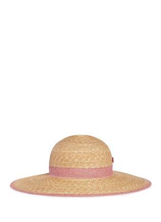 首图 - 点击放大 - MY BOB - CAPELINE拼色仿帽带草帽