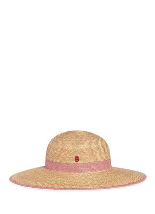 模特示范图 - 点击放大 - MY BOB - CAPELINE拼色仿帽带草帽