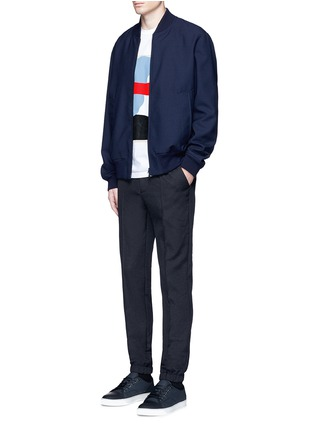 模特儿示范图 - 点击放大 - Marni - 压褶松紧带休闲裤