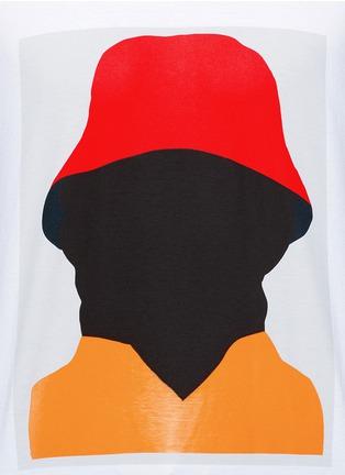 细节 - 点击放大 - Marni - 抽象人形胶印纯棉T恤