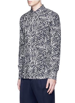 正面 -点击放大 - Marni - 弧形条纹纯棉衬衫