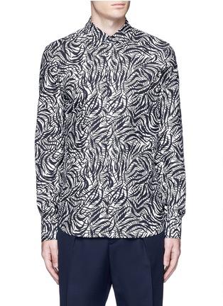首图 - 点击放大 - Marni - 弧形条纹纯棉衬衫