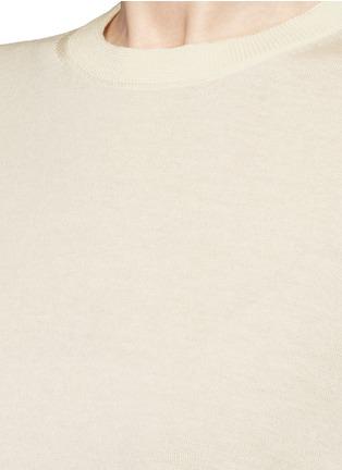 细节 - 点击放大 - ACNE STUDIOS - CACI卷边拼接纯棉针织衫