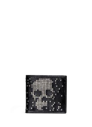 首图 - 点击放大 - ALEXANDER MCQUEEN - 铆钉骷髅头真皮折叠钱包