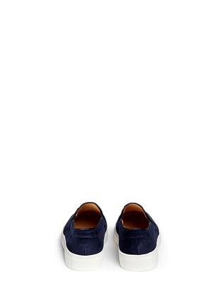 背面 - 点击放大 - BING XU - 海洋风图标刺绣绒面便鞋