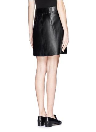 背面 - 点击放大 - 3.1 PHILLIP LIM - Leather A-line skirt