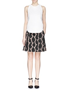 3.1 PHILLIP LIM Angled vines pencil skirt