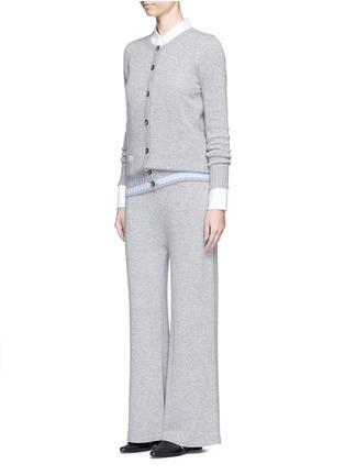 模特示范图 - 点击放大 - AGNONA - 低裆羊绒阔腿裤