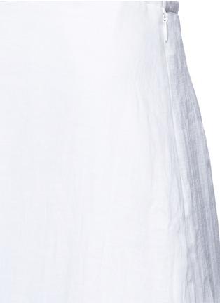 细节 - 点击放大 - THEORY - Halvinnie亚麻半身长裙
