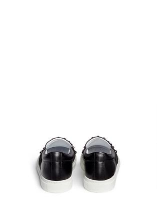 背面 - 点击放大 - LANVIN - 大小铆钉牛皮平底便鞋