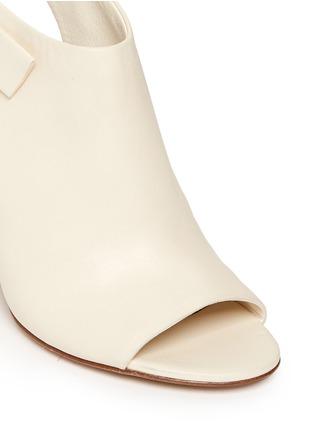 细节 - 点击放大 - ALEXANDER WANG  - 缺口式粗跟露趾踝靴