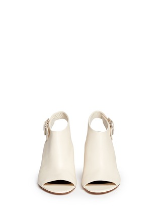 模特儿示范图 - 点击放大 - ALEXANDER WANG  - 缺口式粗跟露趾踝靴