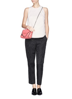 3.1 PHILLIP LIM Quilted snakeskin effect top