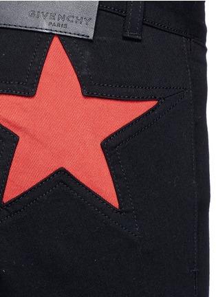 细节 - 点击放大 - GIVENCHY - 拼色星形拼贴棉质长裤