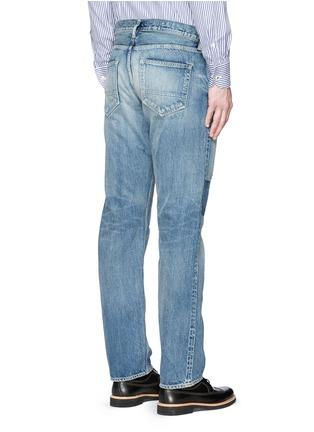背面 - 点击放大 - FDMTL - TRACE磨破拼贴水洗修身牛仔裤